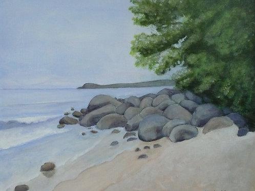 Ravlundafältets strand by artist Ann-Christine Göt
