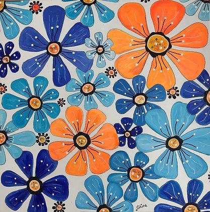 Blomster i blått