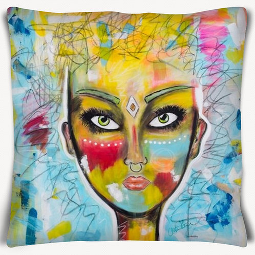 Yellow Warrior cushioncover