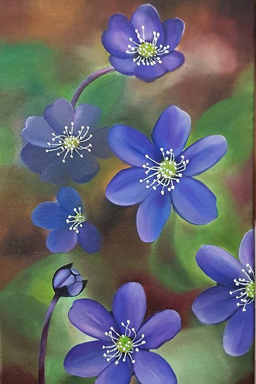 """Blåsippa - """"Våren är här"""" av Anette André"""