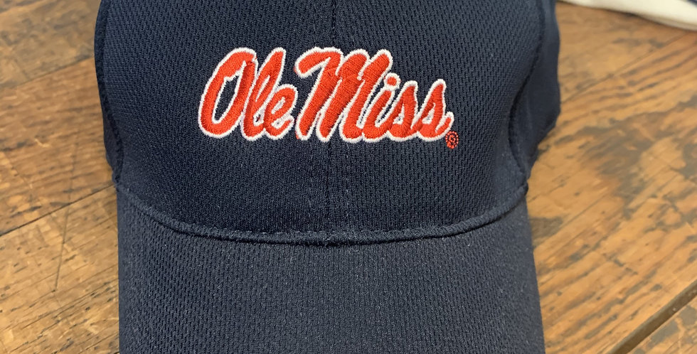 Navy Hat with Red Ole Miss - Red Bill