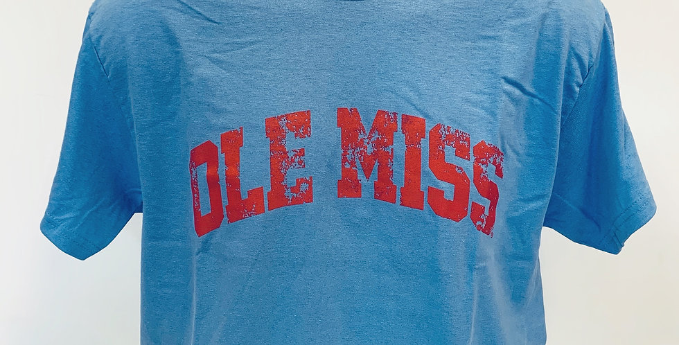 Arched Ole Miss Short Sleeve Tee