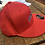 Thumbnail: Red Solid Back Flat Bill Hat with Navy Ole Miss
