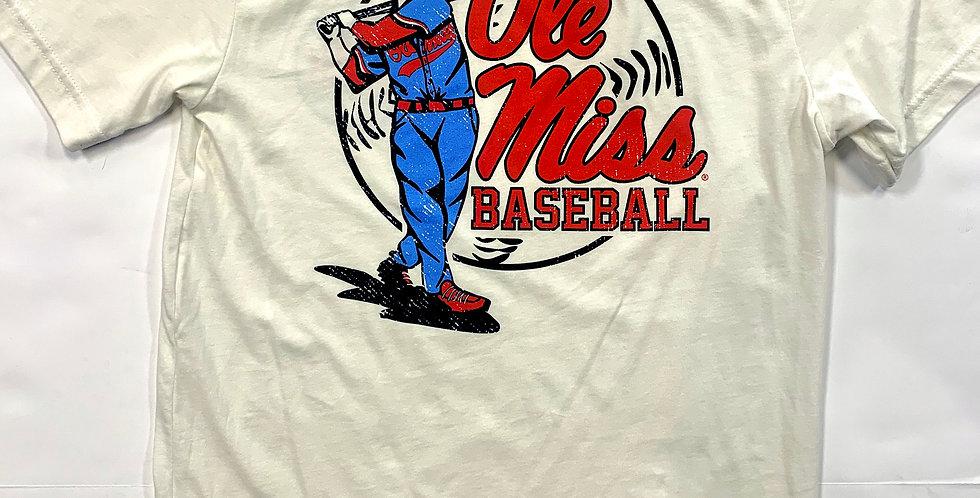 Ole Miss Swing Batter T-Shirt Short Sleeve