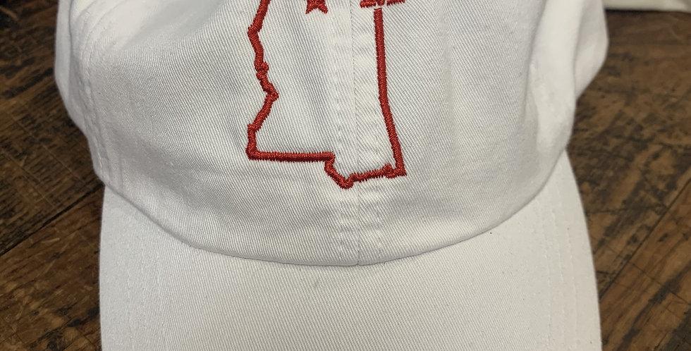 White UM Mississippi Hat