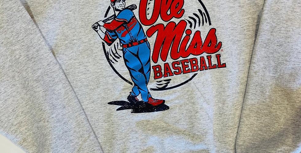 Swing Batter Ole Miss Baseball Sweatshirt