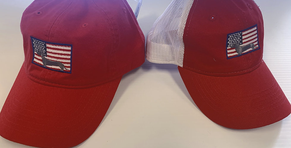 Red Weenie USA Hats (With & Without Mesh)