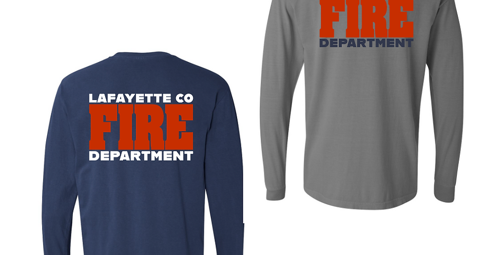 LCFD COMFORT COLOR Navy Long Sleeve T-Shirt