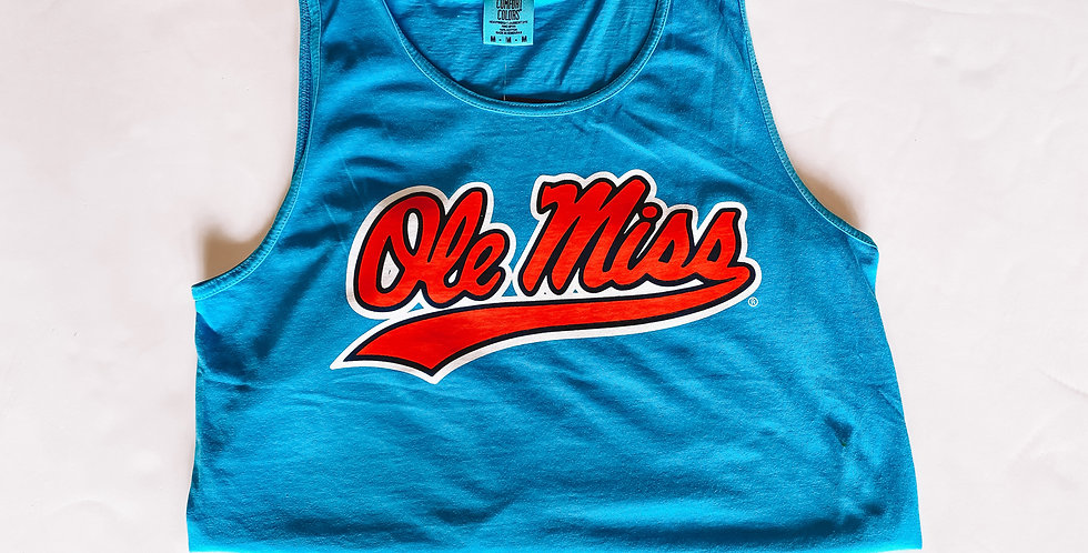 Ole Miss Swoosh - Tank Top