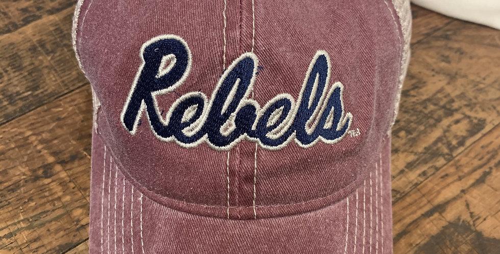 Vintage Brick Hat with Navy Vintage Rebels