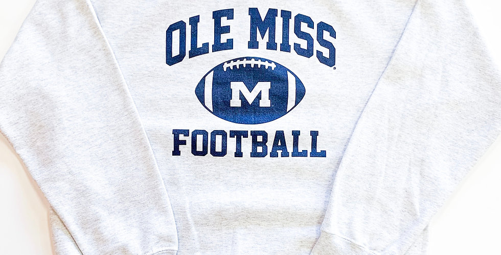 "Vintage Ole Miss ""M"" Football"