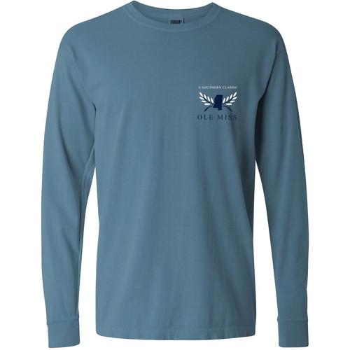 83a535ed260 Ole Miss Columns Comfort Color T-Shirt-Short   Long Sleeve