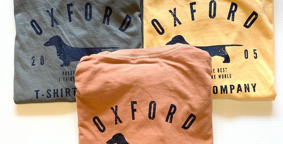 Distressed Oxford T-shirt Logo Tee