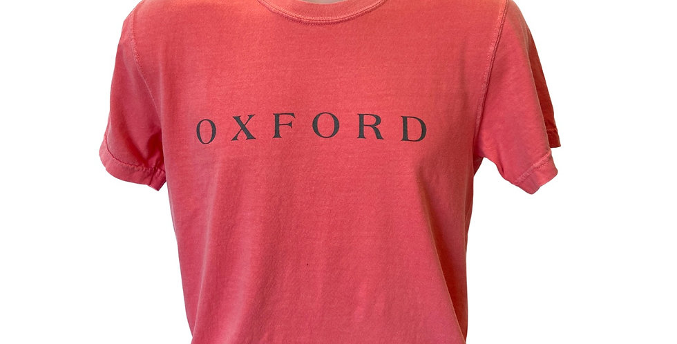 Oxford Square Outline Coral with Grey Ink