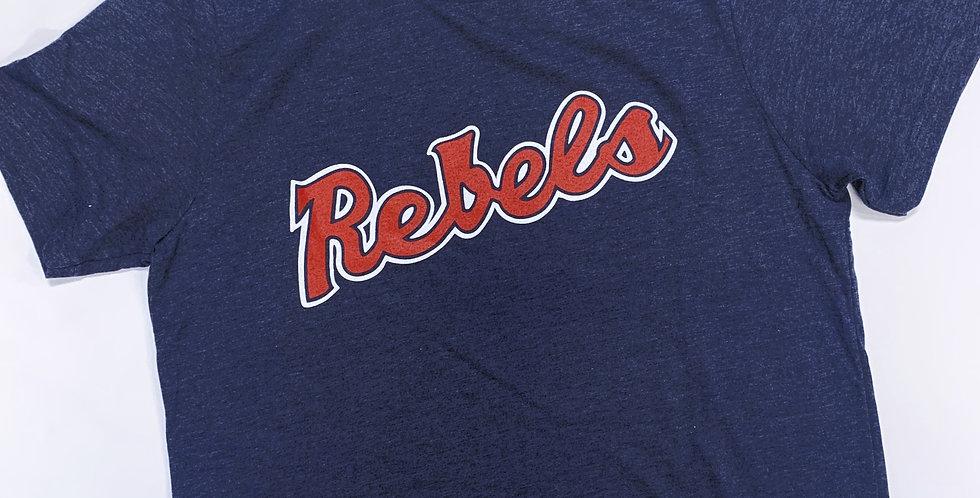 "Vintage ""Rebels"" Navy Bella Canvas T-Shirt"