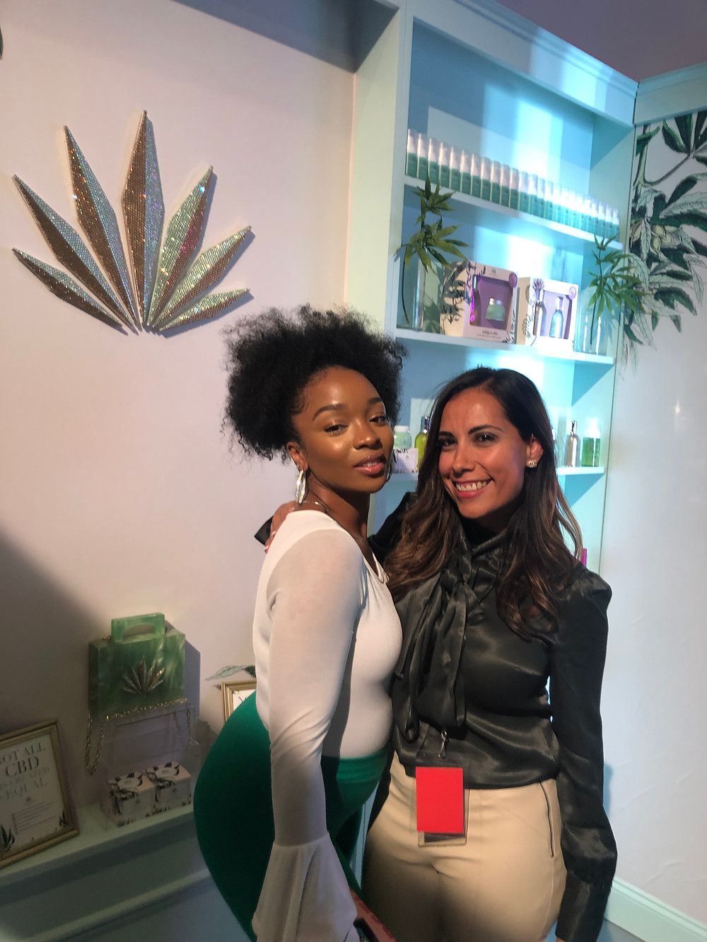 Myself and one of the owners of Natura Med. She's absolutely gorgeous. No, Im not pregnant just extremely bloated smh lol. But peep how flawless our makeup is.