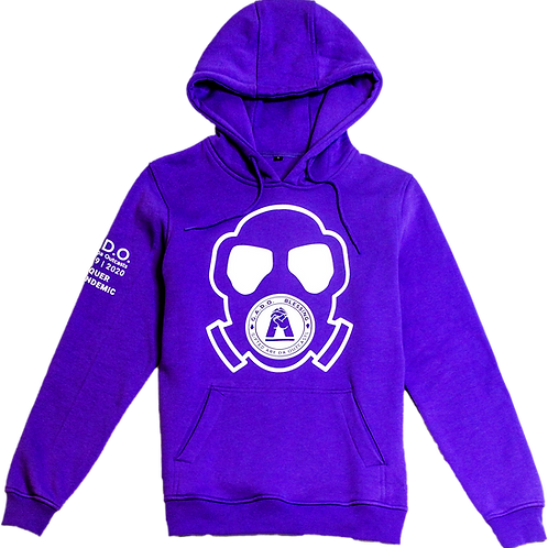 Covid-19 | 2020 Hoodie We Conquer This Pandemic Purple Mask