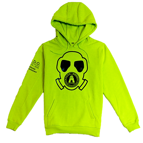 Covid-19 | 2020 Hoodie We Conquer This Pandemic Neon Green/ Yellow Mask