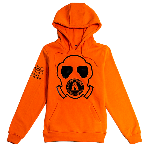 Covid-19 | 2020 Hoodies We Conquer This Pandemic Orange Mask