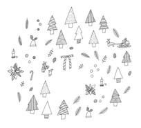 エプロンストーリー様 クリスマス用包装紙(原画)
