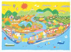 香川県浄化槽協会様 イベント展示物用イラスト(原画)