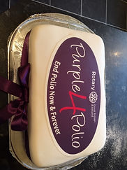 Purple for Polio Cake image