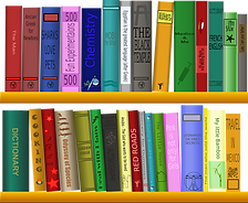 Book shelf graphic