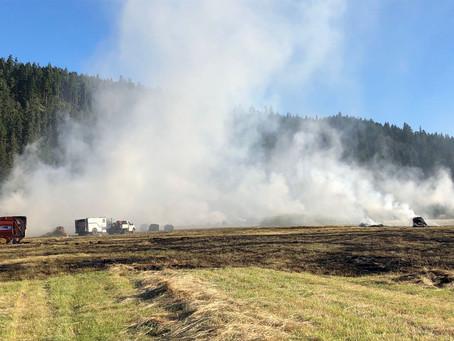 Fire Burns Eleven Acres Southeast of Elkton