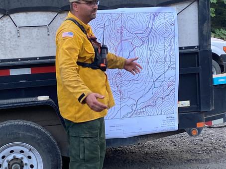 Days Creek Road Fire: Wednesday Update