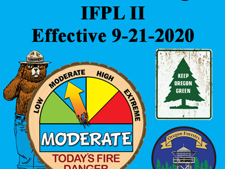 Fire Restrictions Lowered – Fire Season Remains in Effect