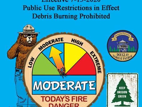 Fire Danger Increases - Moderate