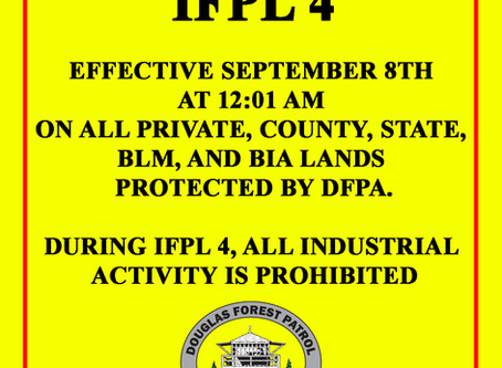 FOREST LANDS CLOSED TO INDUSTRIAL ACTIVITY - IFPL 4 Effective 9-8-2020