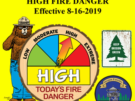 Fire Danger Increases