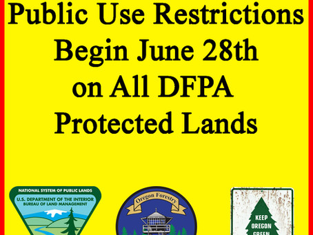 PUBLIC USE RESTRICTIONS BEGIN JUNE 28TH
