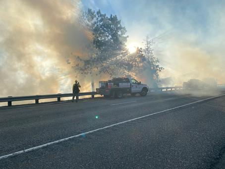 I-5 Milepost 114 Fire