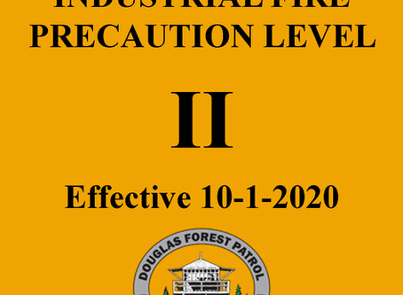 Industrial Fire Restrictions Increase October 1st