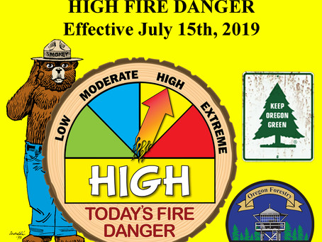Fire Danger Increases July 15th