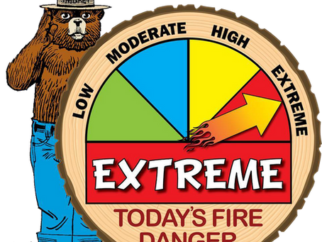 Fire Danger Increases: Extreme