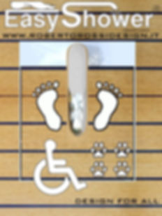 Docce per esterni Easy Shower, docce per disabili, turismo accessibile, design for all