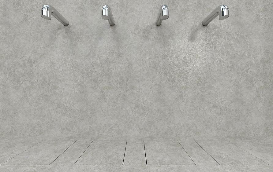 Doccia igienica per spogliatoi sportivi, doccia automatica senza fili elettrici, a risparmio energetico, per interni ed esterni