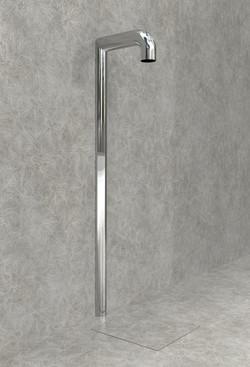Doccia per esterni Easy Shower - mod. BASE-1-U+canalina1a.jpg