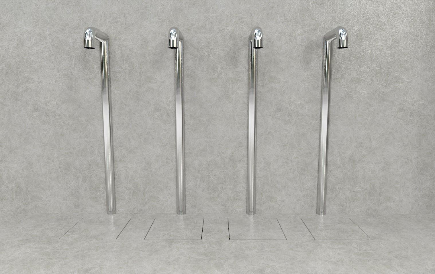 Doccia per esterni Easy Shower - mod. BASE-4-U+canaline.jpg