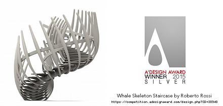 Whale skeleton staircase winner silver premium