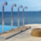 Serie di docce modulari a più utenze, assemblate con appositi raccod
