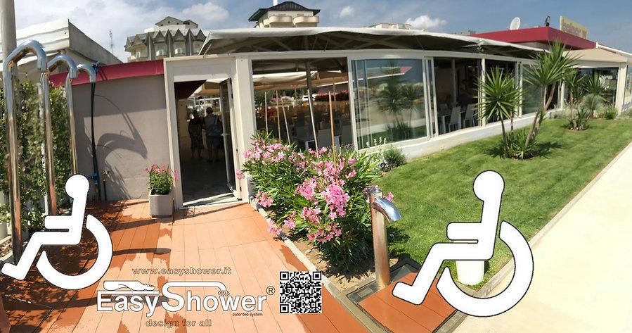 Docce automatiche a risparmio energetico Easy Shower funzionale anche con set di 4 ruote per spostarla ovunque