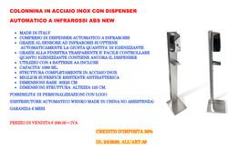 COLONNINA SANIFICANTE INOX + DISP.