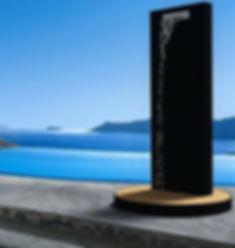 Doccia solare a risparmio energetico con inseguitore solare, soffione a cascata