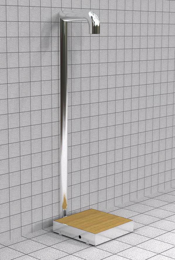 Doccia per esterni Easy Shower - mod. BASE-1+canalina1a.jpg
