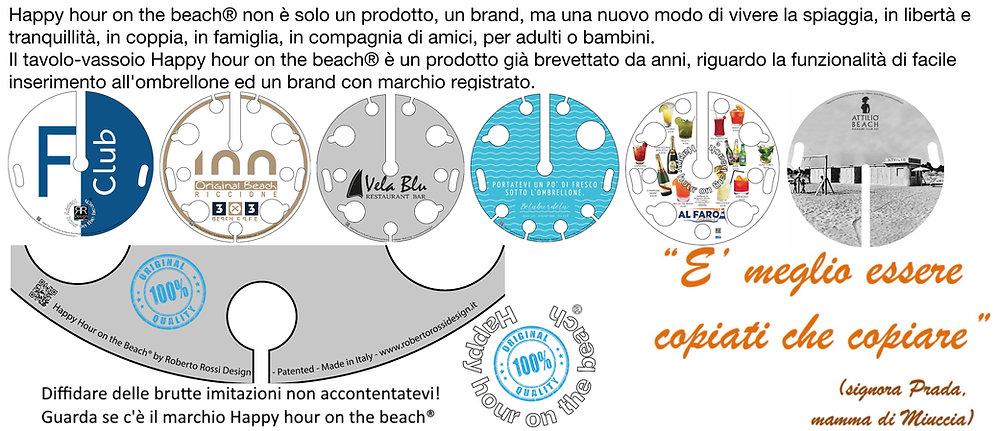 Happy hour on the beach® è un prodotto brevettato ed un brand registrato