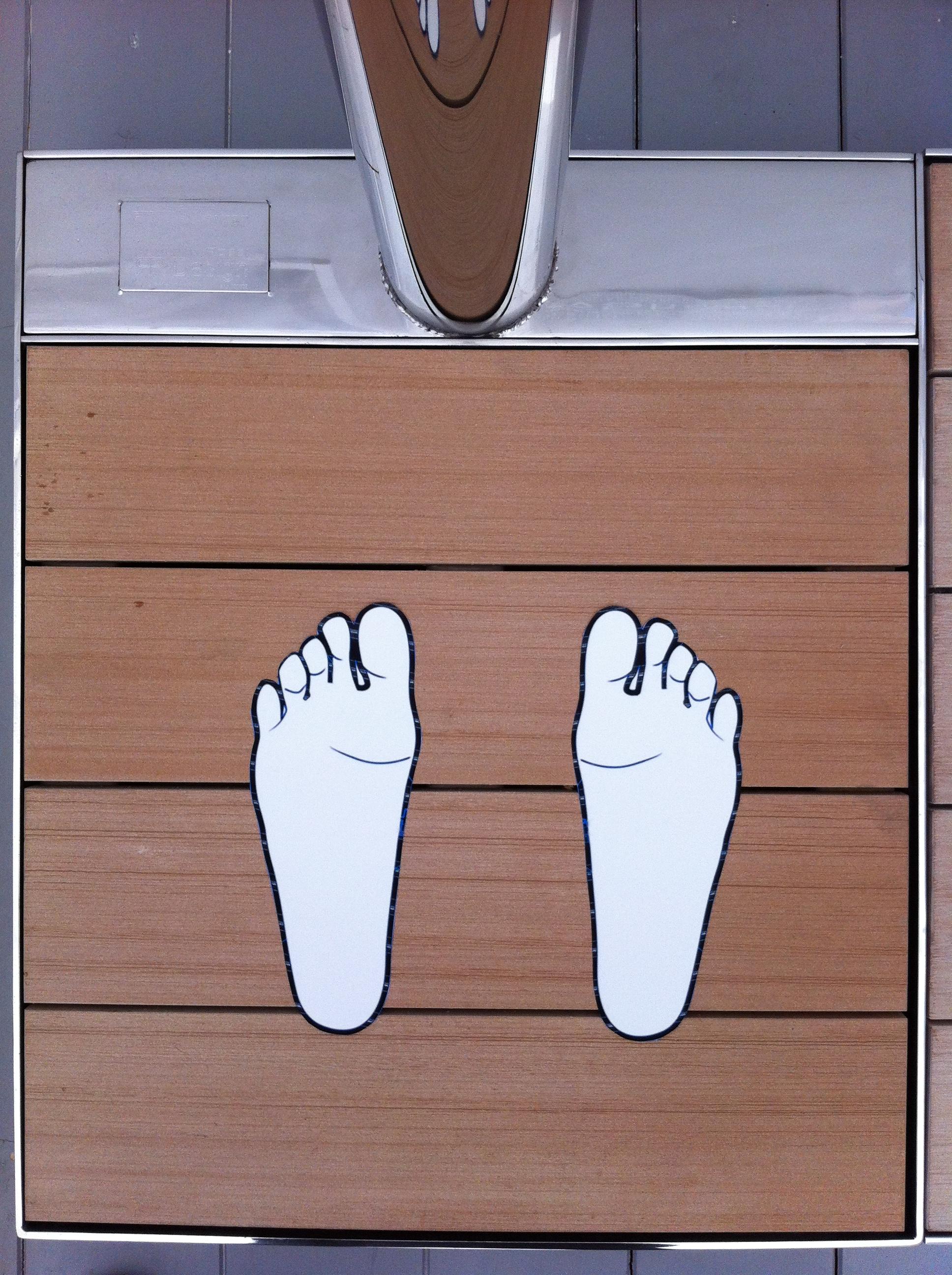 Docce Easy Shower® - posizione piedi